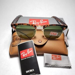 Ray-Ban clubmaster with tortoise black frame